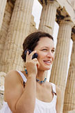 greece stock photography | Greece, Woman on mobile phone, image id 7-640-515
