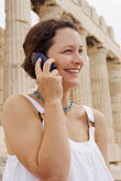 woman on mobile phone stock photography | Greece, Woman on mobile phone, image id 7-640-517