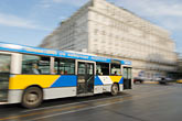 athens stock photography | Greece, Athens, Bus at Syntagma Square, motion blur, image id 7-640-5172
