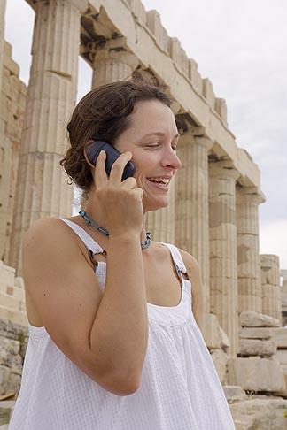 image 7-640-518 Greece, Woman on mobile phone