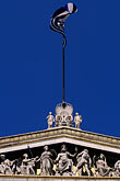 greek flag stock photography | Greece, Athens, Flag over Athens University, image id 9-250-40