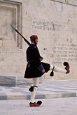 military uniform stock photography | Greece, Athens, Evzone on guard, Parliament building, image id 9-250-88