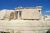 greece stock photography | Greece, Athens, Acropolis,.Parthenon, with carved stone blocks, image id 9-253-19