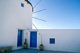 whitewashed building stock photography | Greece, Mykonos, Windmill, image id 9-261-34