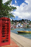 telephone booth stock photography | Grenada, St. George�s, Carenage (Harbor), image id 3-590-12