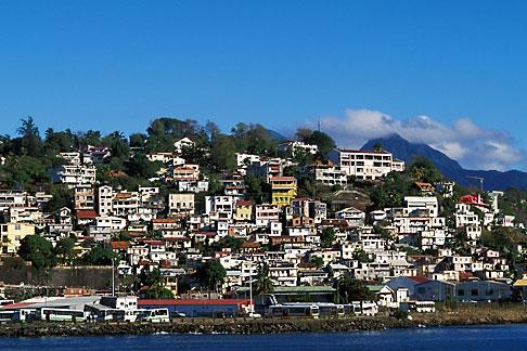 image 3-590-79 Grenada, St Georges, Houses on hillside