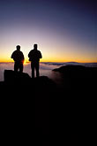 two people stock photography | Hawaii, Maui, Sunrise on Haleakala crater, image id 4-12-11