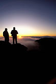 two people stock photography | Hawaii, Maui, Sunrise on Haleakala crater, image id 4-12-15