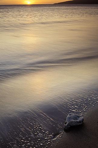 image 4-23-23 Hawaii, Maui, Surf at sunset, Maalaea Bay