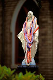 vertical stock photography | Hawaii, Maui, Statue of Virgin Mary, Holy Rosary Church, Paia, image id 4-5-32