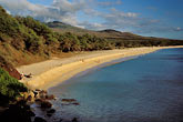 hillside stock photography | Hawaii, Maui, Looking south from north end of Makena Beach, image id 4-9-1