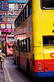 vertical stock photography | Hong Kong, Buses, Causeway Bay, image id 4-319-10