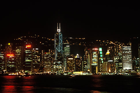 image 4-489-15 Hong Kong, Central District skyline at night