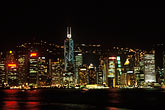 rise stock photography | Hong Kong, Central District skyline at night, image id 4-489-15