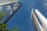 sky stock photography | Hong Kong, Skyscrapers and blue sky, image id 7-680-6295