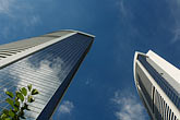 horizontal stock photography | Hong Kong, Skyscrapers and blue sky, image id 7-680-6299