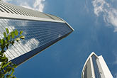 horizontal stock photography | Hong Kong, Skyscrapers and blue sky, image id 7-680-6302