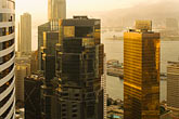 elevated view of downtown at sunset stock photography | Hong Kong, Elevated view of downtown at sunset, image id 7-680-6304