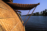 thatch stock photography | India, Kerala, Houseboat in coastal backwaters, image id 7-121-21