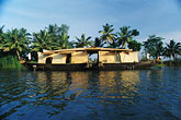 houseboat in coastal backwaters stock photography | India, Kerala, Houseboat in coastal backwaters, image id 7-135-30
