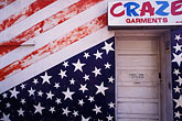 entrance stock photography | Flag, Wall with painted American flag, image id 7-149-3