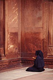 woman stock photography | India, Delhi, Woman at prayer, Jama Masjid, image id 7-291-12