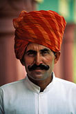 gaze stock photography | India, Rajasthan, Rajasthani man with turban, image id 7-297-8