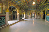 building stock photography | India, Rajasthan, Sheesh Mahal, Samode Palace, image id 7-324-1