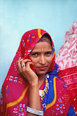 colorful indian fabrics stock photography | India, Rajasthan, Rajasthani woman, Samode village, image id 7-332-7