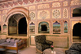 ornate stock photography | India, Rajasthan, Sultan Mahal lounge, Samode Palace, image id 7-333-1