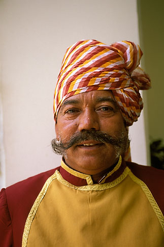 image 7-341-13 India, Jaipur, Doorman, Rambagh Palace