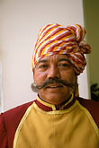 face stock photography | India, Jaipur, Doorman, Rambagh Palace, image id 7-341-13