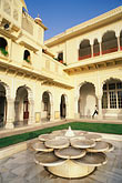 fountain stock photography | India, Jaipur, Rambagh Palace, image id 7-343-9
