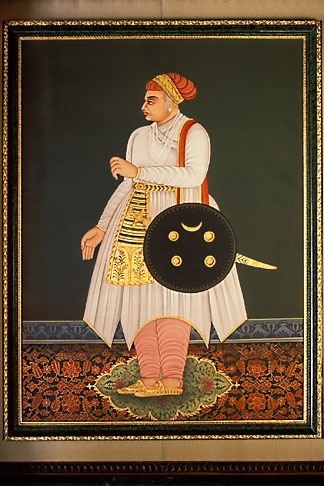 image 7-348-13 Indian Art, Painting of Maharajah