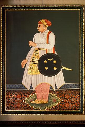 image 7-348-13 Indian Art, Painting of Maharajah