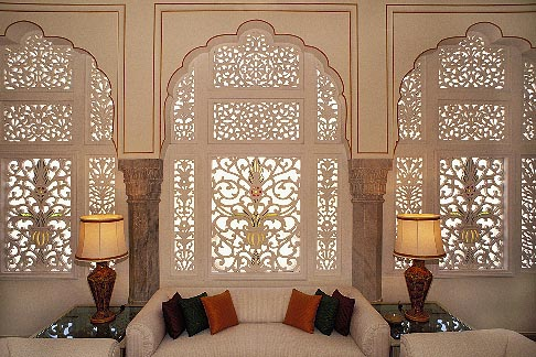 image 7-348-2 India, Jaipur, Suite, Rambagh Palace