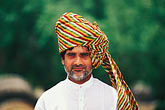 gaze stock photography | India, Rajasthan, Rajasthani man with turban, image id 7-366-6