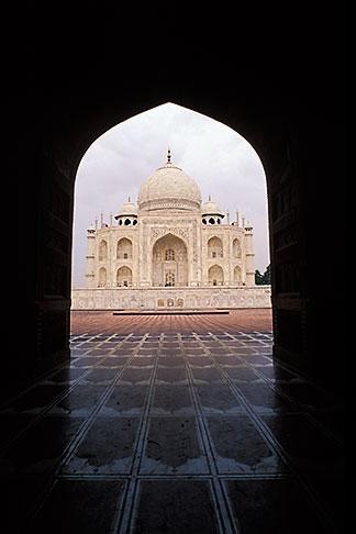 image 7-373-8 India, Agra, Taj Mahal and mosque entrance
