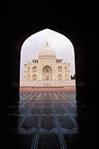 heritage stock photography | India, Agra, Taj Mahal and mosque entrance, image id 7-373-8
