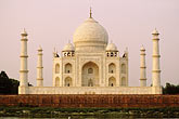 mausoleum stock photography | India, Agra, Taj Mahal from across the Yamuna River, image id 7-375-6