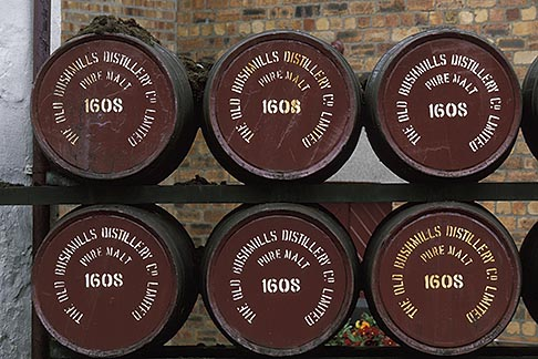 image 4-751-3 Ireland, County Antrim, Bushmills Distillery, barrels