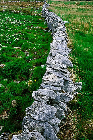 image 4-752-54 Ireland, County Clare, Stone wall on the Burren