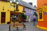bench stock photography | Ireland, County Cork, Kinsale, street scene, image id 4-752-65