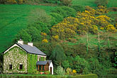 stone houses stock photography | Ireland, County Cork, Farm on hillside, image id 4-752-73