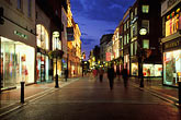shopping street stock photography | Ireland, Dublin, Grafton Street at night, image id 4-753-41