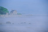 seashore stock photography | Ireland, County Louth, House and coastal fog, image id 4-753-79