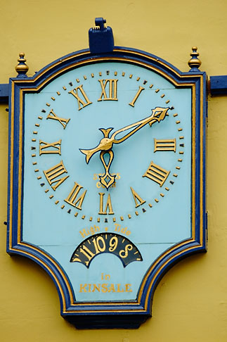 image 4-900-1264 Ireland, County Cork, Kinsale, Clock
