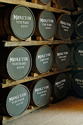 image 4-900-1402 Ireland, County Cork, Old Midleton Distillery, Whiskey barrels