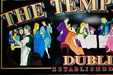 colour stock photography | Ireland, Dublin, Temple Bar Pub sign, image id 4-900-1563