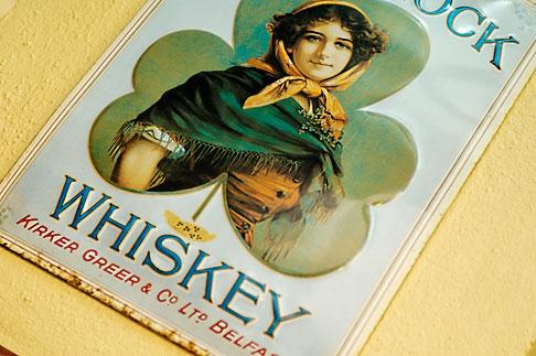 image 4-900-1619 Ireland, Dublin, Shamrock whiskey sign